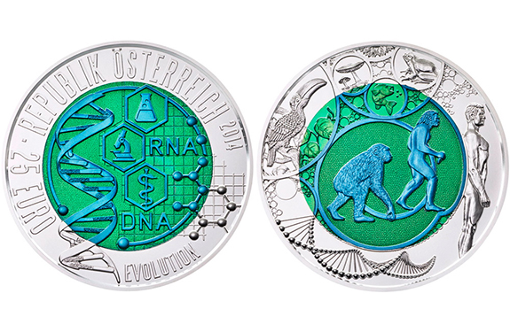 """Evolution"" Coin from Austrian Mint"