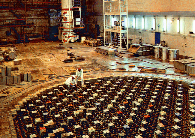 Ignalina RBMK reactor tube tops. Copyright: Wikipedia.
